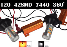 T20 7440 992A Switchback LED Turn Signal Light Dual Color DRL Canbus for Toyota