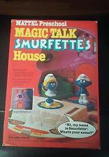 New 1983 Magic Talk Smurfette's House Mattel Preschool