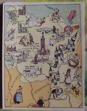 Carte de France Illustrées d'après Pinchon le Creusot Fuissé Macon Beaune Dijon
