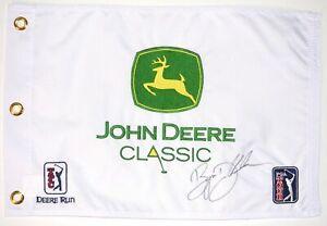 BRYSON DECHAMBEAU - 1ST WIN -  Signed - JOHN DEERE CLASSIC - Golf Flag