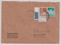 Bizone/Bauten, 83wg, 74wg, Notopfer-(Rand teilgezähnt), Hildesheim 18.5.49
