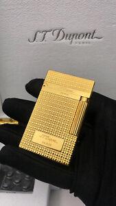 S.T Dupont lighter cigaret sliding wheel pure copper small square gold+BOX