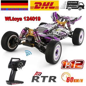 WLtoys 124019 RC Auto 2.4G 4WD 1/12 Legierung-Chassis Ferngesteuertes Drift Auto