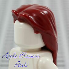 NEW Lego Boy/Girl Minifig LONG DARK RED HAIR - Male Female Minifigure Head Gear
