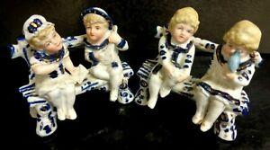 Antique 1880's GERMANY Vintage BOY/GIRL statue figurine's  porcelain ESTATE FIND