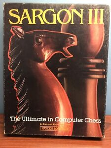 Sargon III 3 chess game Hayden Software Apple II plus IIe 2 vintage computer