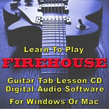 FIREHOUSE Guitar Tab Lesson CD Software - 23 Songs