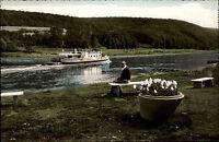 ~1950/60 Schiffe Schiffahrt Fluss Weser Dampfer Schiff bei WEHRDEN Ship Card