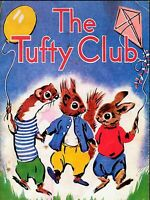 THE TUFTY CLUB  retro vintage classic kids advertising wall metal sign plaque