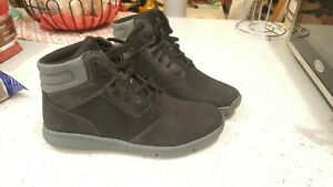 Youth Timberland Boltero Mid Sneaker Boots Black Gray A26PT Size 7