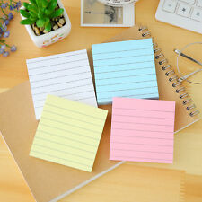 1pcs Cute Simple Line NoteBook Candy Color Square Message Self-adhesive Post-It