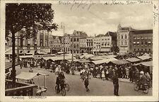 Groningen gut frankiert Nederland AK 1951 Marktdag Markttag Marktplatz gelaufen