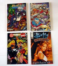 Lot 4 COMICS Wild Cats - Judgment Day - DC versus Marvel comics - Buffy N°1 1999