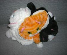 Pop Out Pets    3 pets in one  tuxedo cat, tabby cat, snowball cat   silky soft