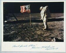 Apollo 17 Harrison Schmitt Signed Photograph Moon Surface Authenticated JSA