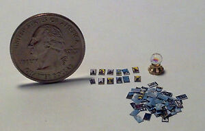 Dollhouse Miniature Halloween Tarot Cards & Crystal Ball 1:48 H21 Dollys Gallery