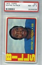 1972 Topps Football #57 - Wayne Patrick - PSA Graded 8 - Bills (Box DP)