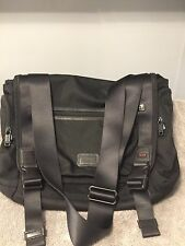 Tumi Messenger Crossbody Bag Briefcase Laptop Black Nylon Carry On 16x13