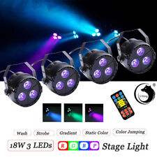 4PCS 18W RGBP Par Stage Lighting DMX Remote Color Mixing Wedding Party Club Disc