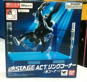 New Bandai Soul STAGE ACT Ring corner blue corner ABS made & cotton cord .