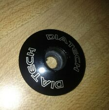 """DiaTech Bicycle Components Headset Top Cap - Black - 1-1/8"""" Threadless"""