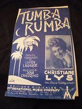 Partition Tumba rumba Christiane Lys Music Sheet
