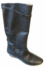 FRYE Riding Boot Black Leather Smallbuckle Size 7 M