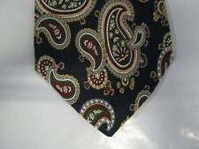 Class Club BOYS SILK Tie Necktie 50 x 3.25 black red green beige paisley 14280