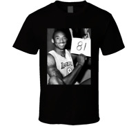 New Kobe Bryant 81 Black T-Shirt Clothing