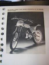 Clipping + Brochure Van Veen Kreidler Cross en GS  (jaren 70 / 80 Duits)