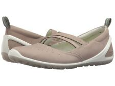 Women's ECCO size 37 (6/6.5 US) Casual Leather Gray Biom Lite Slip-On Shoes NEW