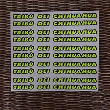 Helmet visor decal - 10 TRIBU DEI CHIHUAHUA- fluorescent! THE BEST IN THE WORLD