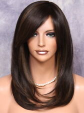 Long Straight Everyday Full Wig Brown mix CLO 4-30 Hairpiece Heat OK