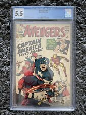 Avengers 4 CGC 5.5 First Silver Age Captain America