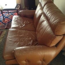 Moran Vintage Two Seater Leather Lounge 1970's