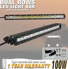 TUFF PLUS 22inch 100W Cree LED Light Bar Spot Flood Single Row Work Lamp Offroad