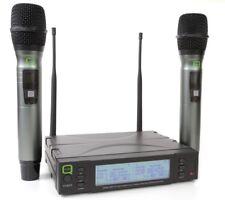 Q Audio UHF doppio canale Wireless Mic sistema