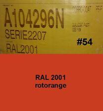capa del polvo 1kg Polvo Para Recubrimiento 2001 pintura en Polvo Naranja