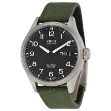 Oris Big Crown ProPilot Black Dial Green Textile Mens Watch 752-7698-4164GRFS