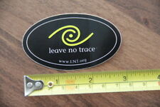 LEAVE NO TRACE STICKER Decal