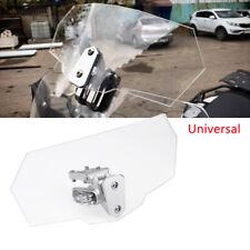 Universal Motorcycle Adjustable Windscreen Spoiler Wind shield Air Deflector