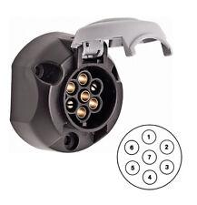 Hella 12S 7 Pin Electrical Towing Socket - Auxillary Towbar White / Grey Socket