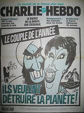 CHARLIE HEBDO 546 LE COUPLE DE L'ANNéE CABU TIGNOUS LUZ GéBé MOUGEY 2002