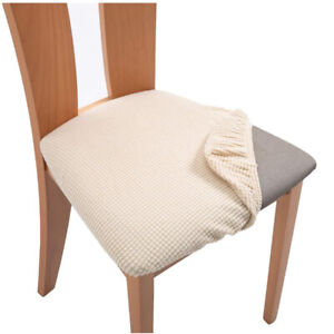Spandex Jacquard Dining Room Chair Seat Covers Removable Washable Cushion Covers