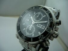 PAUL PICOT  YACHTMAN STEEL DIVERS CHRONO 200 METERS NEW BOX & PAPERS