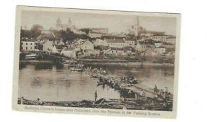 2247 Deutsche Pioniere bauen eine Notbrücke über d. Njemen Festung Grodno