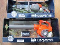HUSQVARNA Spielzeug-Laubbläser u. Heckenschere für Kinder, neu