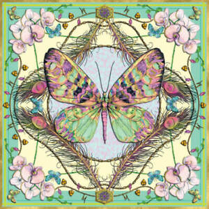 Matthew Williamson Butterfly and Orchids Blank Greeting Card with Envelope