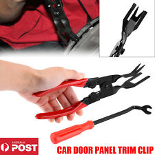 NEW CAR DOOR PANEL TRIM CLIP REMOVAL PLIER + UPHOLSTERY REMOVER PRY BAR TOOL Kit