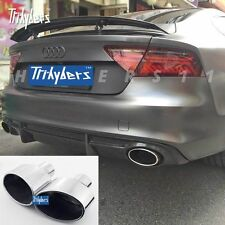 "2.5"" inlet duplex oval exhaust tip for AUDI RS4 TT RS RS6 RS5  RS-Style"